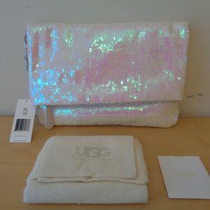UGG Australia Sparkles I Do! White Sequin Clutch